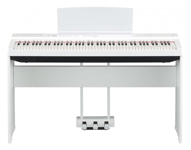 piano num rique yamaha p 125 wh version meuble avec p dalier. Black Bedroom Furniture Sets. Home Design Ideas